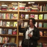 Karma Chávez at Bluestockings Books in New York City. (photo credit: Santhosh Chandrashekhar)